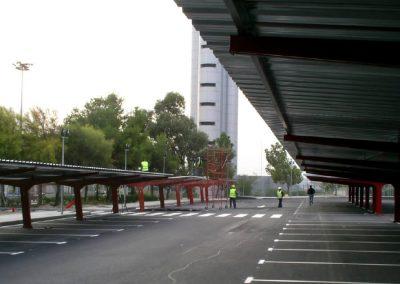 Construcción de prácticas del personal del servicio de extinción de incendios y aparcamiento (B.T.O.). Aeropuerto de Alicante. Alicante, España.