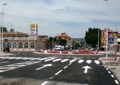 Glorieta Avenida del Pla – Avenida del Arenal en Jávea. Alicante, España.