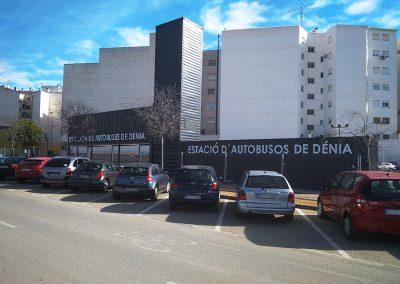 Nueva estación de autobuses en Dénia (Alicante).