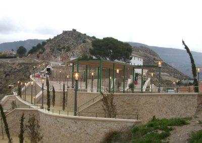 Urbanización de la Plaza del Castillo y aledaños en Xixona. Alicante, España.