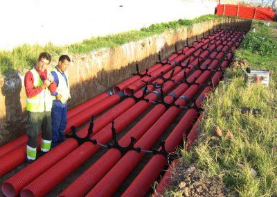 Soterramiento línea eléctrica, Fuente de San Luis – La Punta – Grao, ZAL del Puerto de Valencia. Valencia, España.