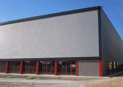 Finalización del pabellón deportivo, fase I, pista multiusos. Alginet, España.