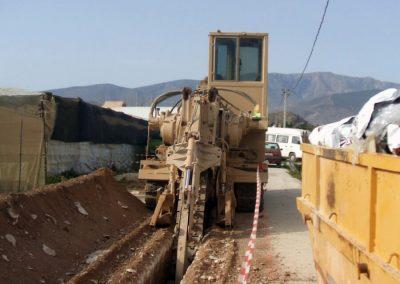 Red secundaria, sistema de telecontrol y distribución a parcela C.R. de Motril-Carchuna y Cota 200. Granada,  España.