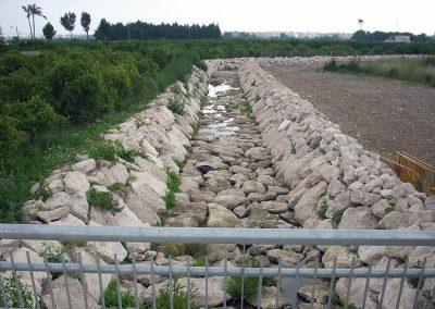 Defensa contra avenidas y aumento capacidad de desagüe en el Barranco Sotoaia o Acequia Mare de Miramar. Valencia, España.