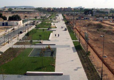 Urbanización de la avenida Vicente Savall en San Vicente del Raspeig. Alicante, España.